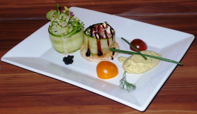 Blattsalat Spargelmousse
