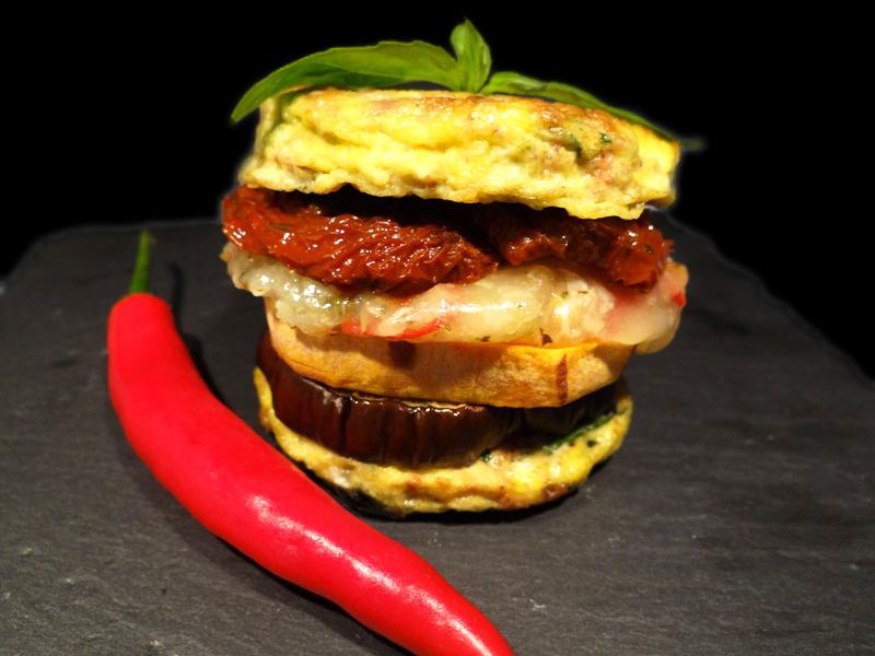Mediterraner Harzer Käse Burger (5)