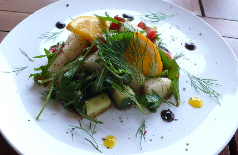 Rucola-Honigmelonen-Salat