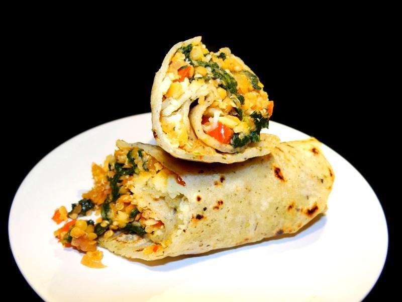 veganer Quinoa-Linsen-Pfannenkuchen